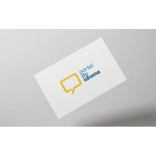 Language learning website logotype